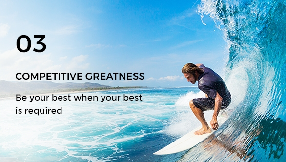 Gravity Investment's core value of competitive greatness.
