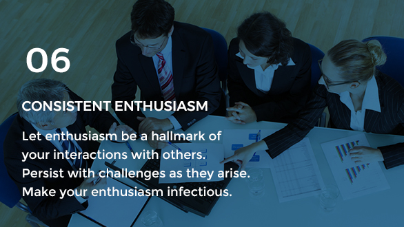 Gravity Investment's core value of consistent enthusiasm.