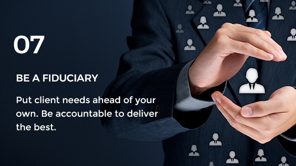 Gravity Investment's core value of fiduciary.