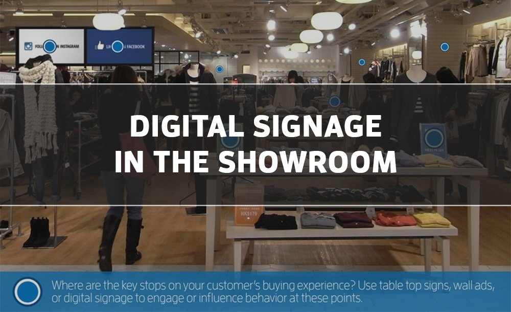 How Digital Signage Fits Into Showroom Layout