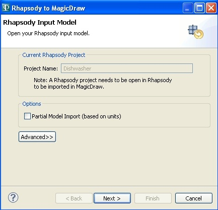 Interoperability between MagicDraw and Rhapsody