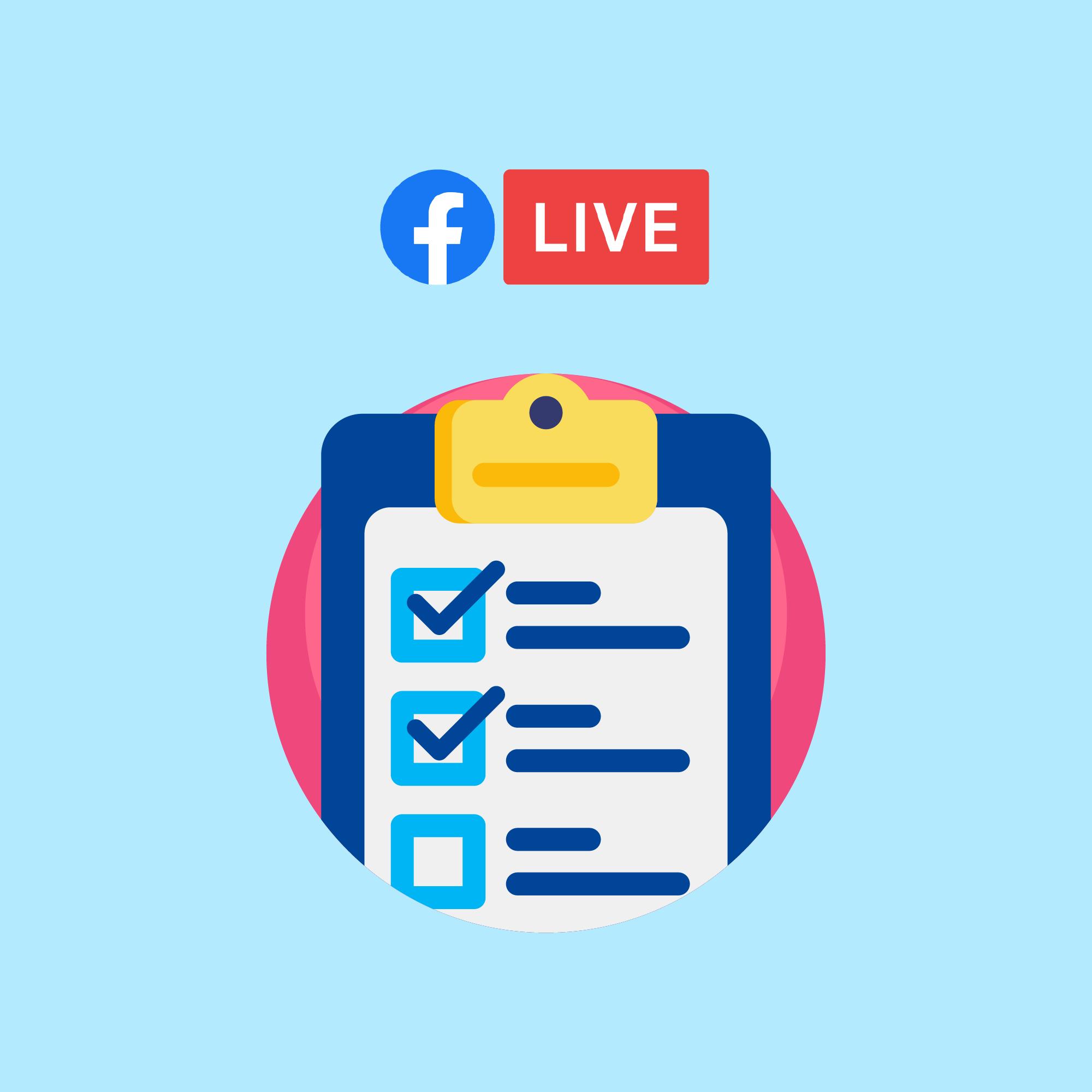 Facebook Live Sale equipment checklist