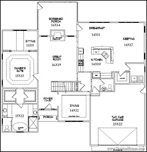 Top 5 downstairs master bedroom floor plans with photos for 2 master bedroom floor plans