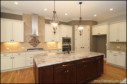 Popular Tile Backsplash Styles, Paint Tones, And Cabinet Colors | NC New  Homes. This Stanton Homes Custom Kitchen Design ...