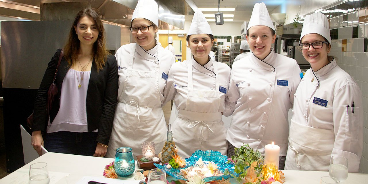 Designer Karissa Palmer with her group from Blue Bay pop up restaurant