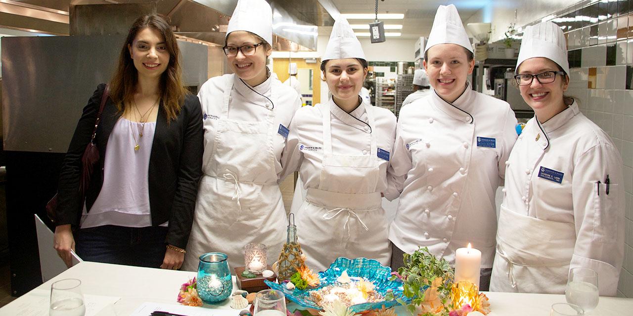 Designer Karissa Palmer with her group from Blue Bay pop up restaurant