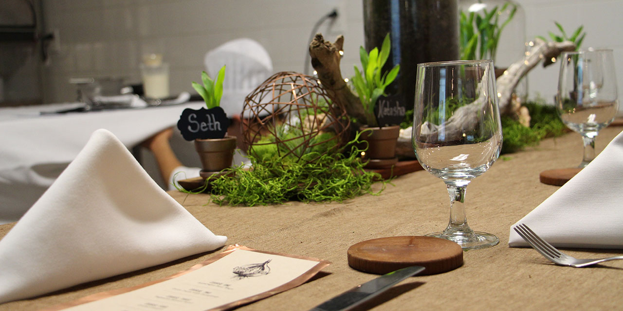 The table setting at Copper Onion