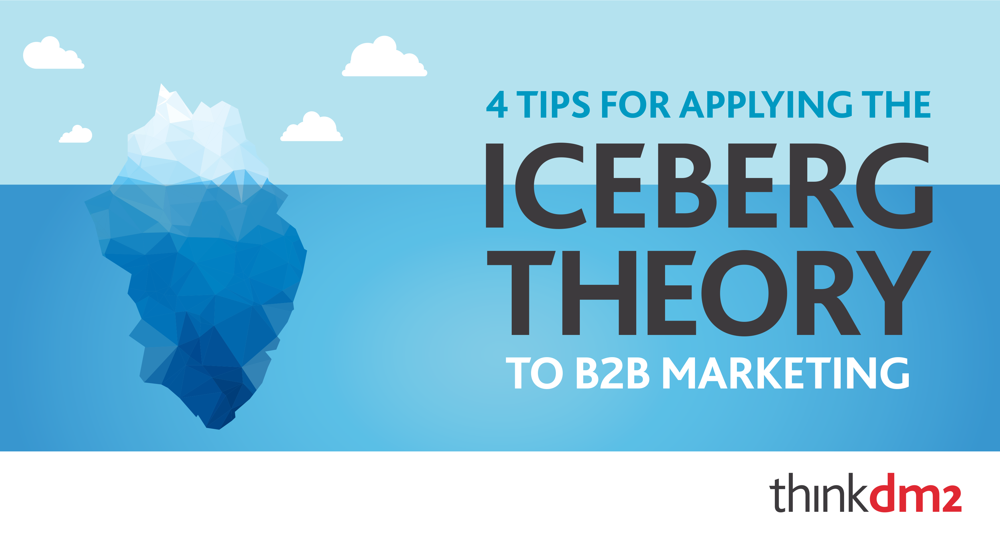 four tips for applying the iceberg theory to your bb direct marketing thinkdm2 4 tips for applying the iceberg theory