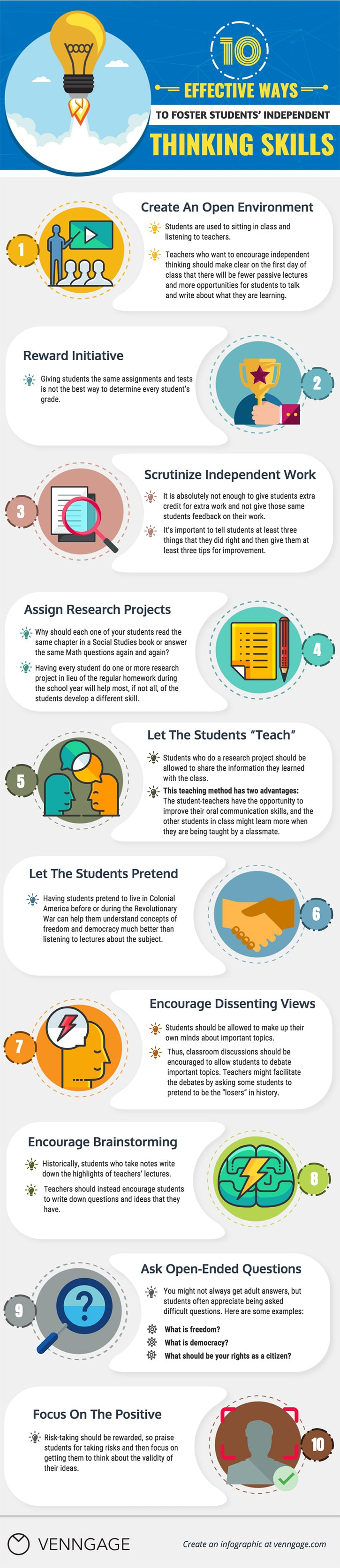 10 Effective Ways to Foster Students' Independent Thinking