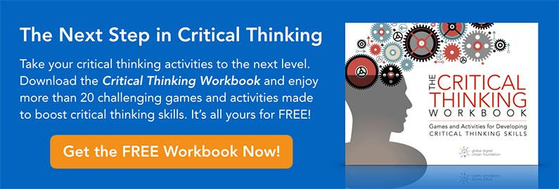 critical thinking group activities From solving problems in class assignments to facing real world situations, critical thinking is a valuable skill for students to master critical thinking is the ability to analyze the way you think.