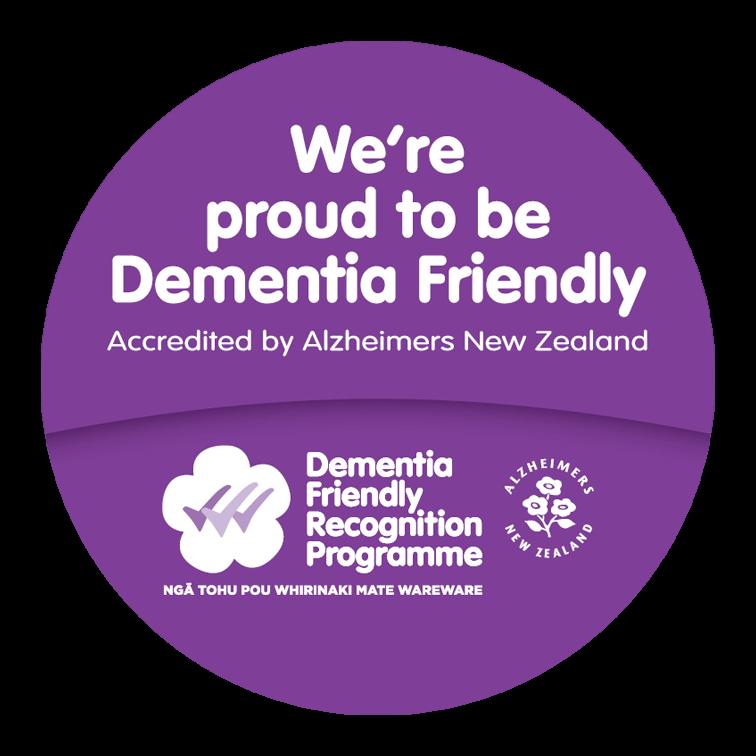 DF Award Alz NZ Dementia Friendly brochure sticker-padding