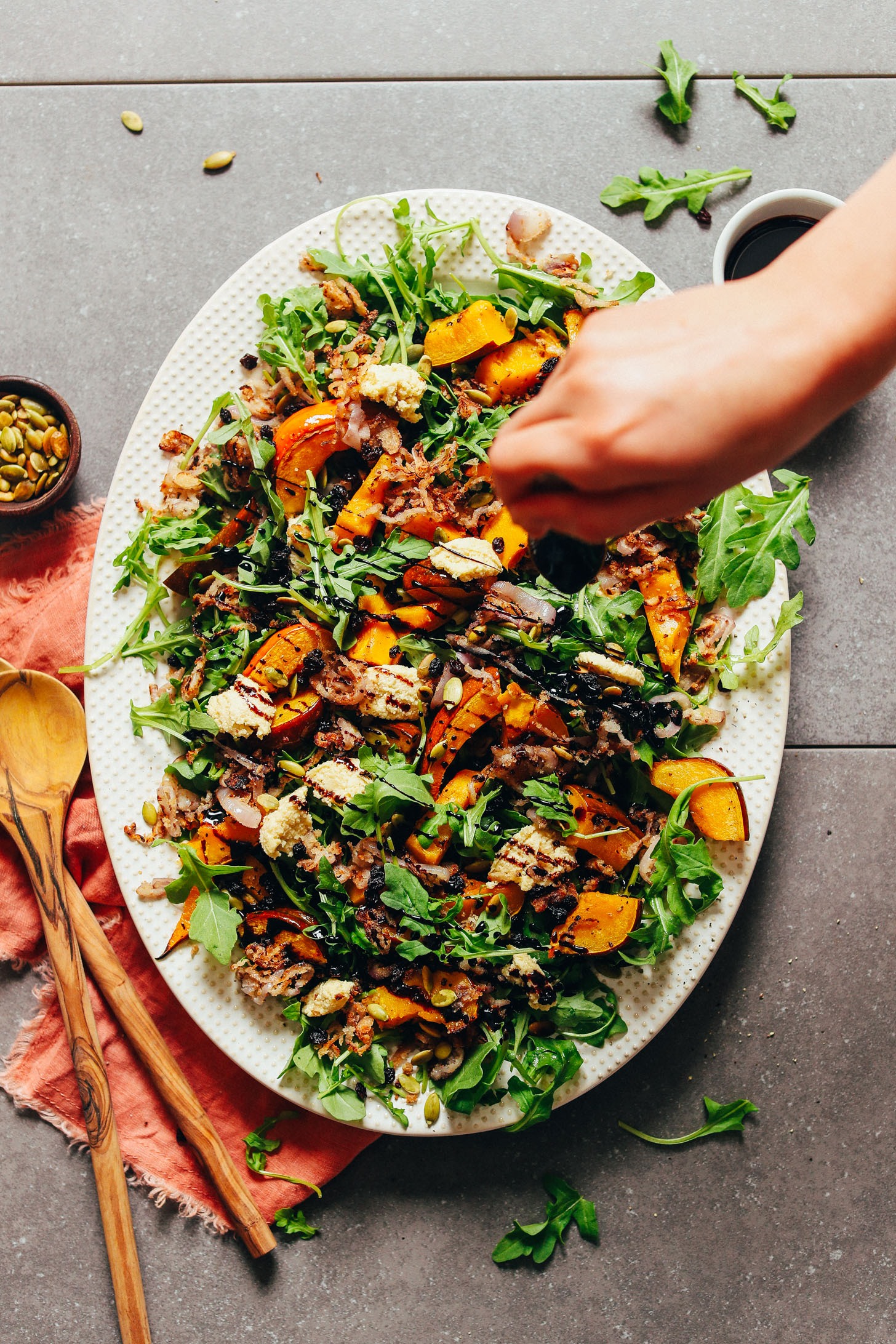 AMAZING-Roasted-Squash-Salad-with-Nut-Cheese-and-Balsamic-Reduction-30-minutes-10-ingredients-BIG-flavor-squash-glutenfree-dinner-vegan-salad-minimalistbaker-recipe-6