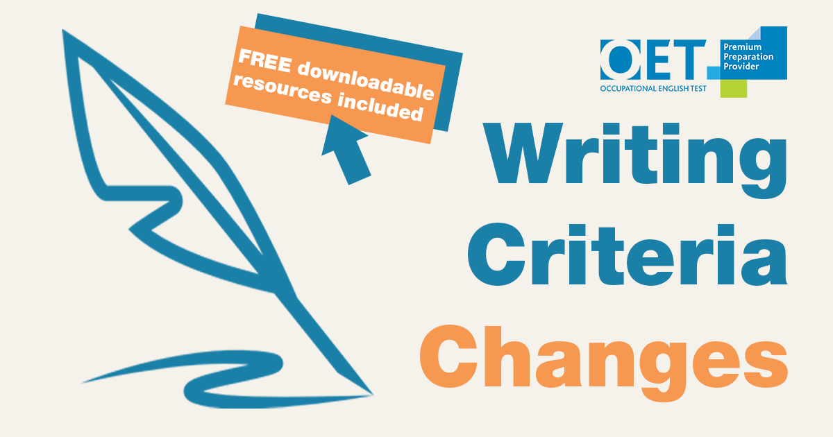 Changes in the OET Writing Criteria