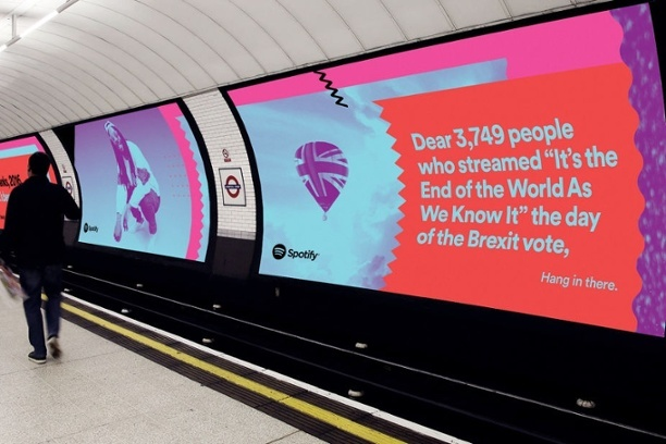 Spotify advert using data
