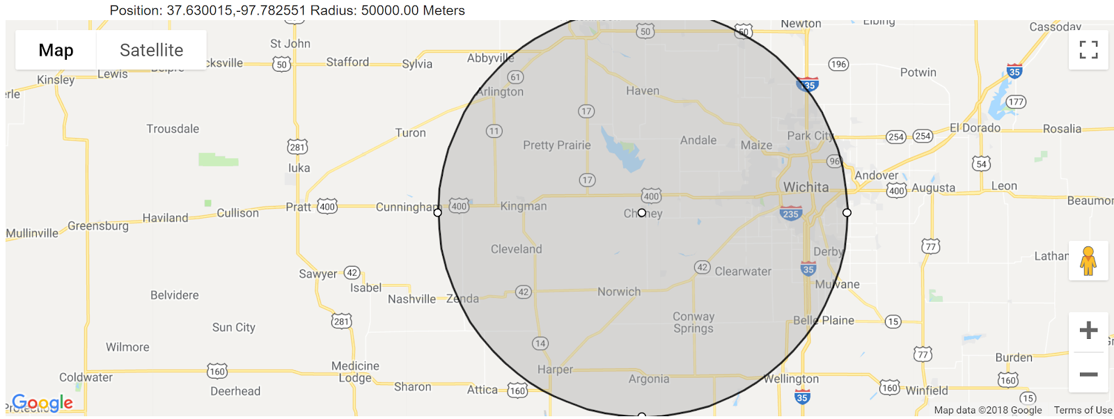 The accuracy radius for a given latitude-longitude pair.