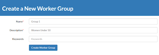 Create a New Worker Group window