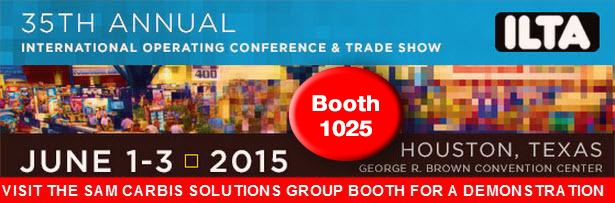 Visit the Sam Carbis Solutions Group Booth for a demostration - Booth 1025