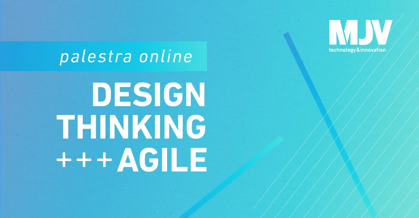 Botão para a palestra Design Thinking + Agile