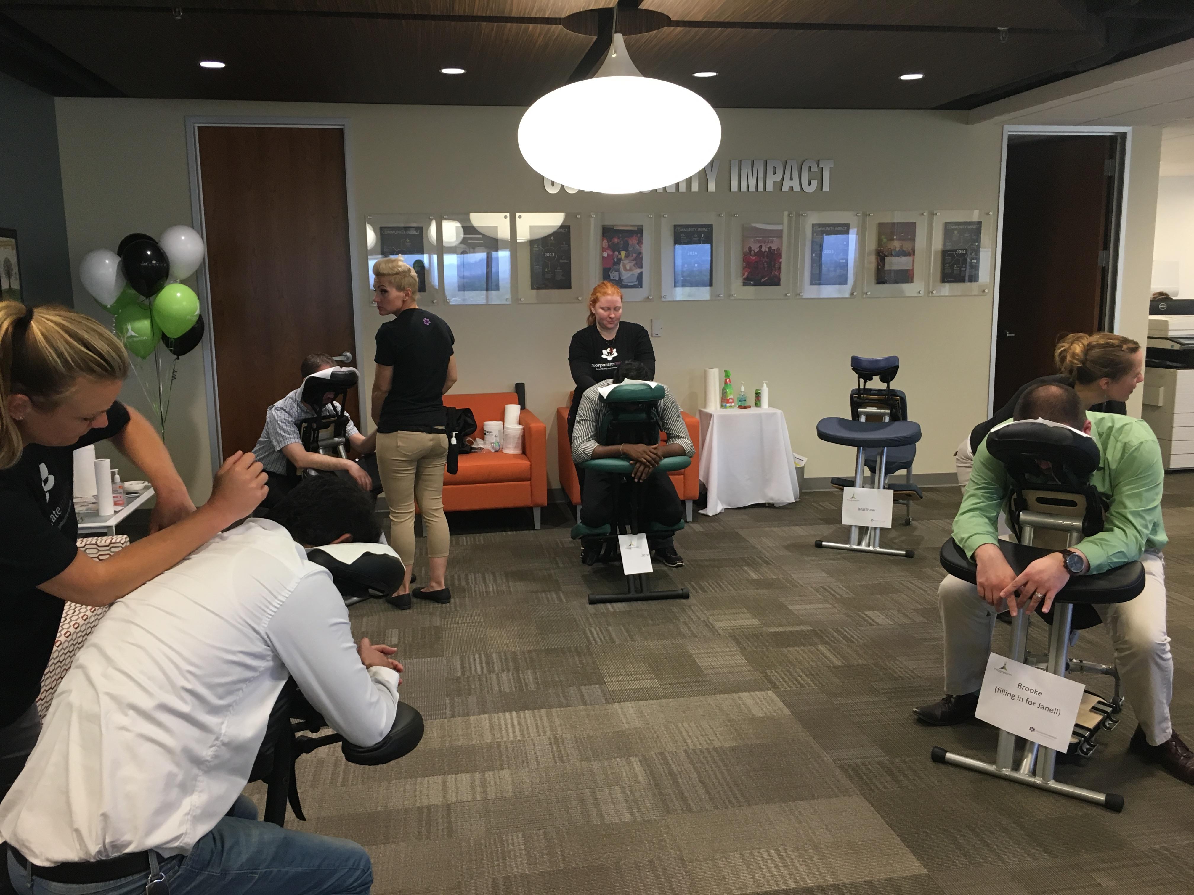 chair massage service at work