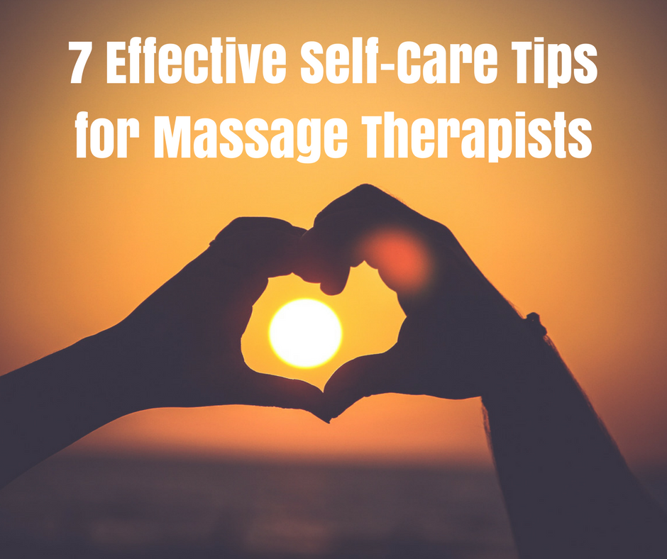 self care for massage therapist