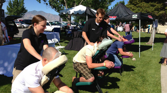 what to expect at a chair massage event