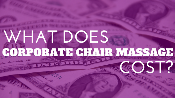 corporate chair massage cost