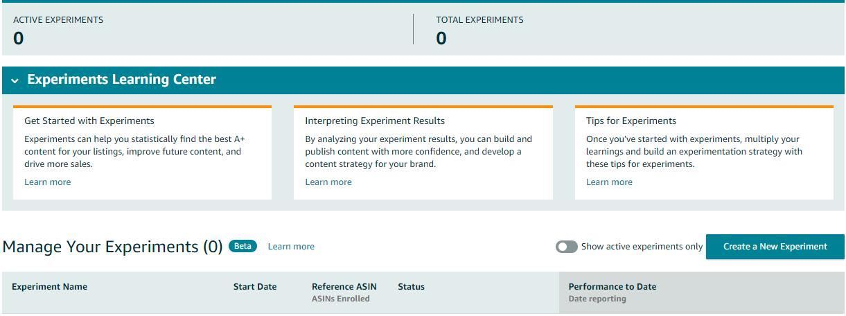 Amazon's new Manage Your Experiments feature allows sellers to run A/B tests on their A+ Content listings.