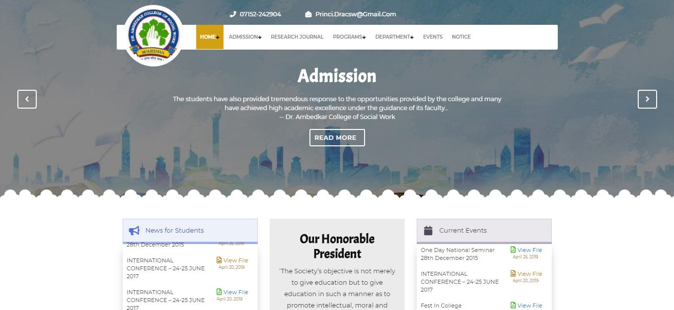 School Information Dynamic Wordpress Website