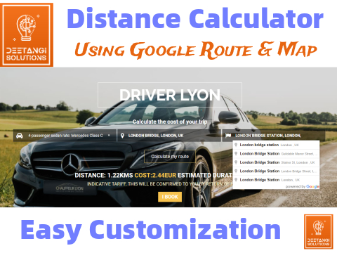 SD Distance Calculator With Price and Elapsed Time