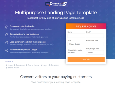 Multipurpose Landing Page Template