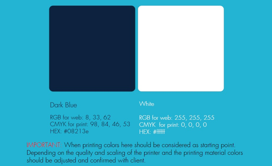 brand colors in brandbook