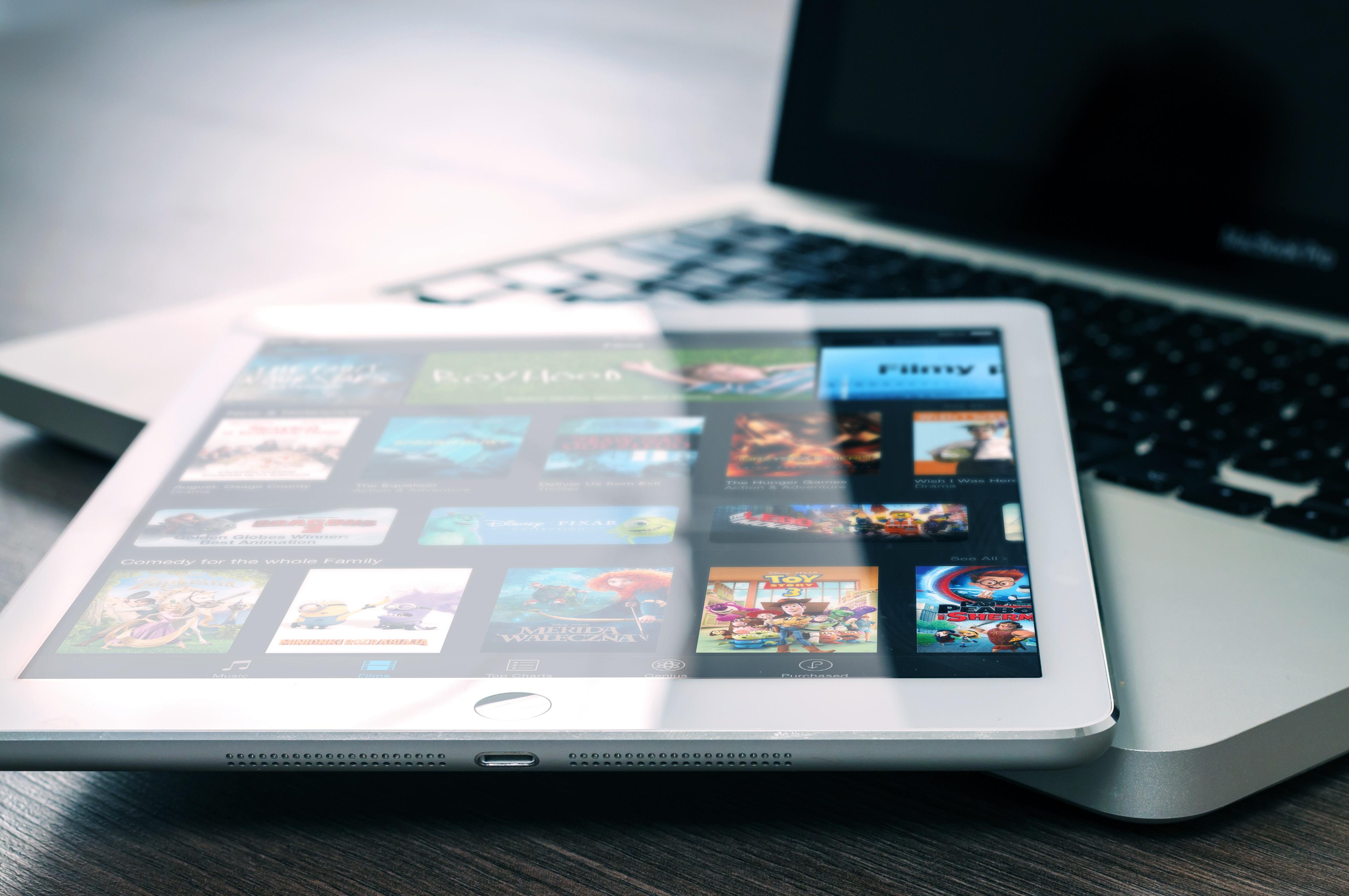 a saas app running on an iPad screen