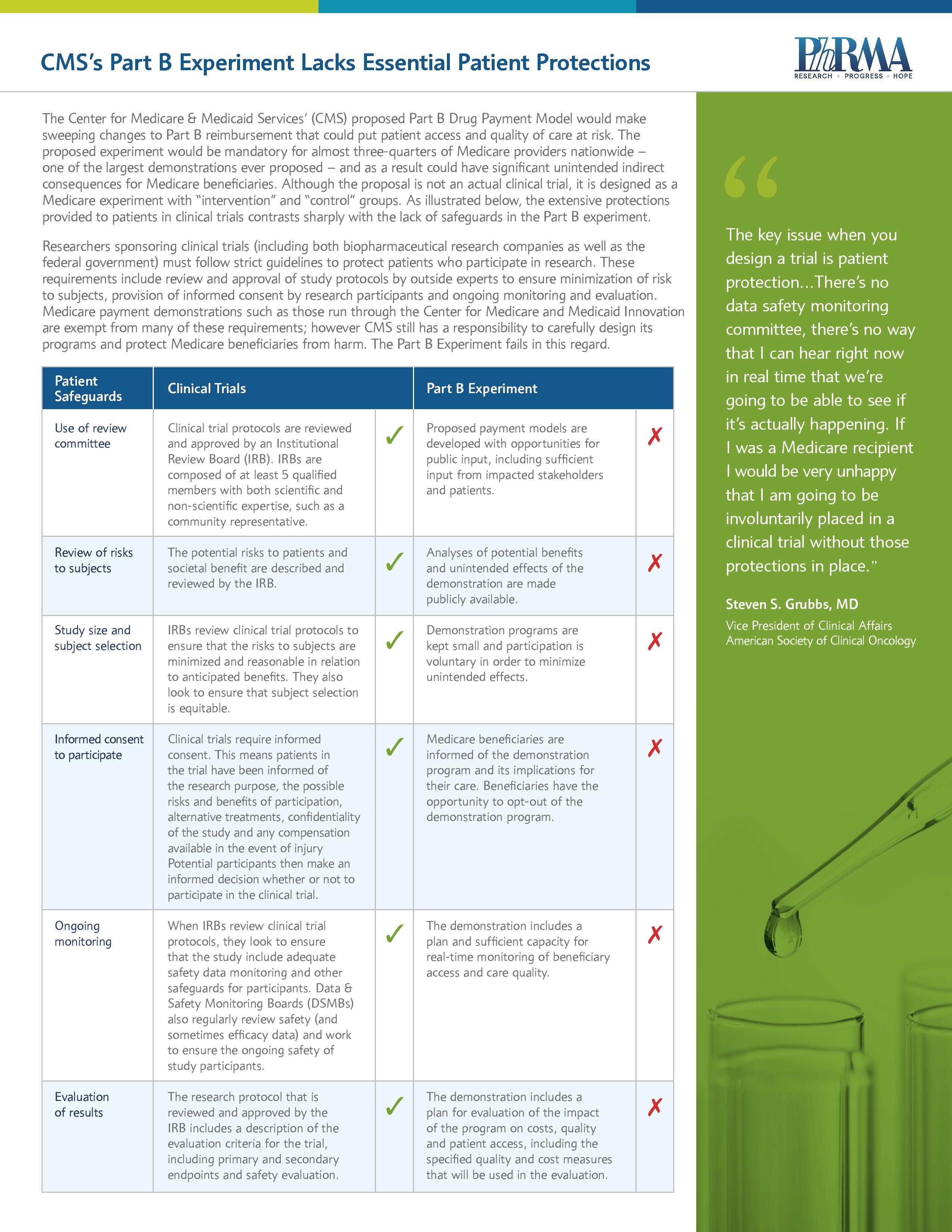 a description of providing cancer clinical trials for medicare benificiaries
