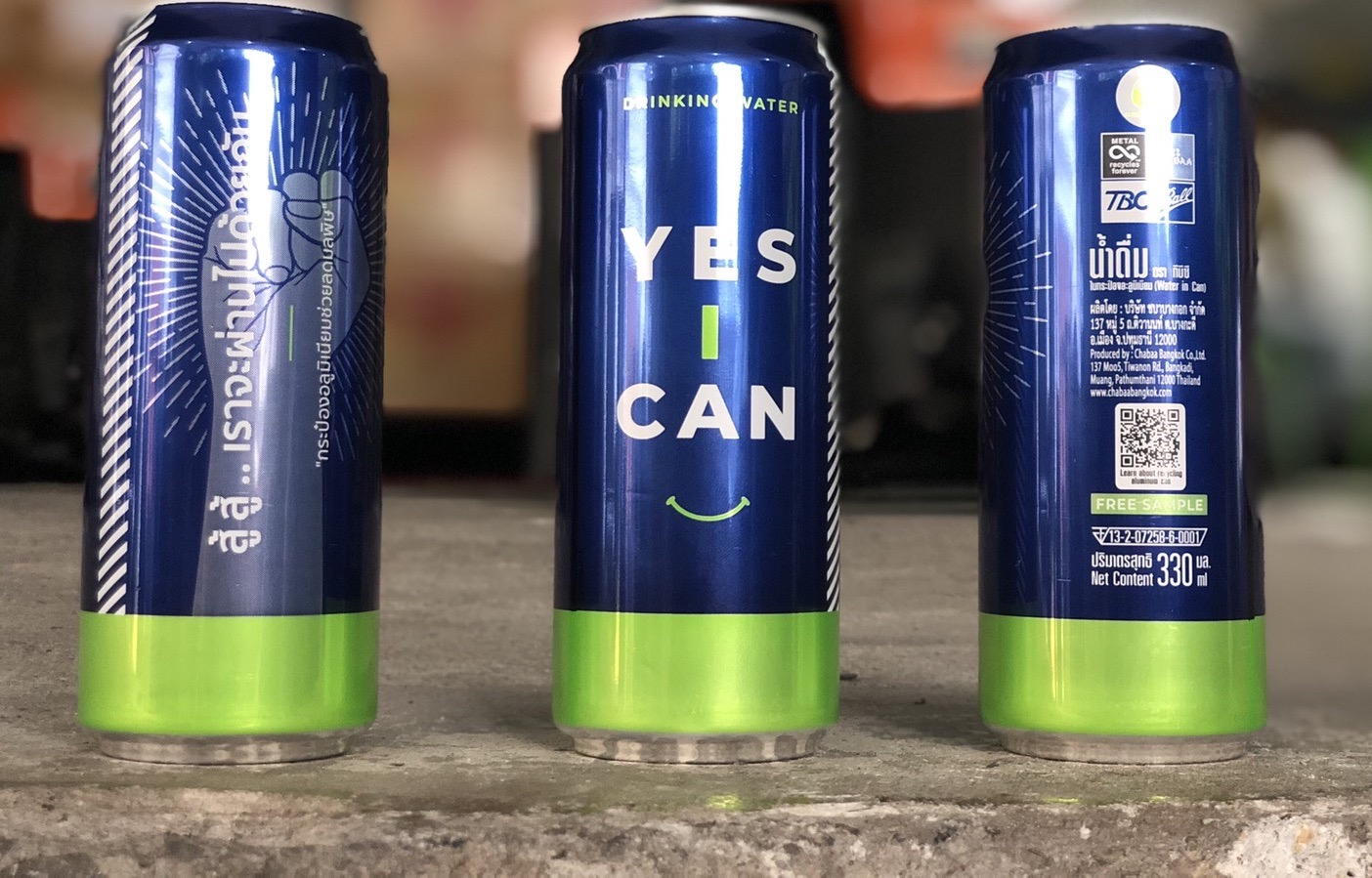 Yes I Can with QR code cans