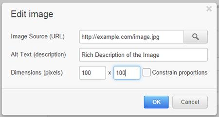 include a keyword-rich description of the image