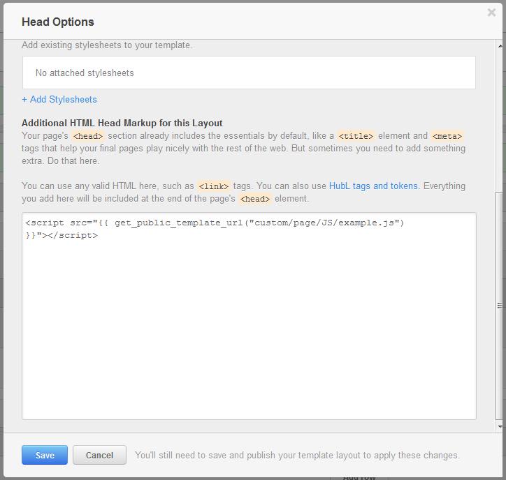 JavaSscript Head