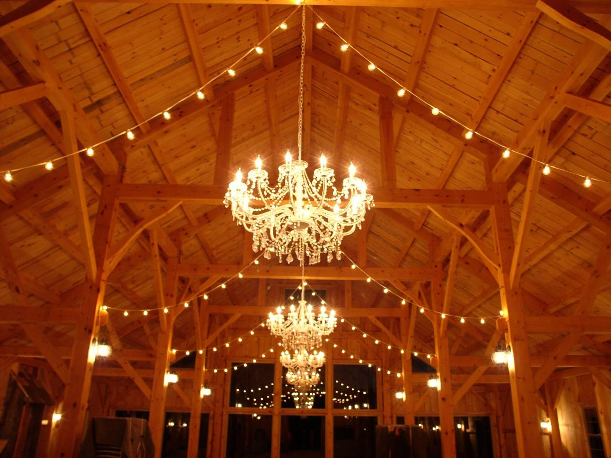 barn wedding lighting. Maine Barn Wedding Lighting