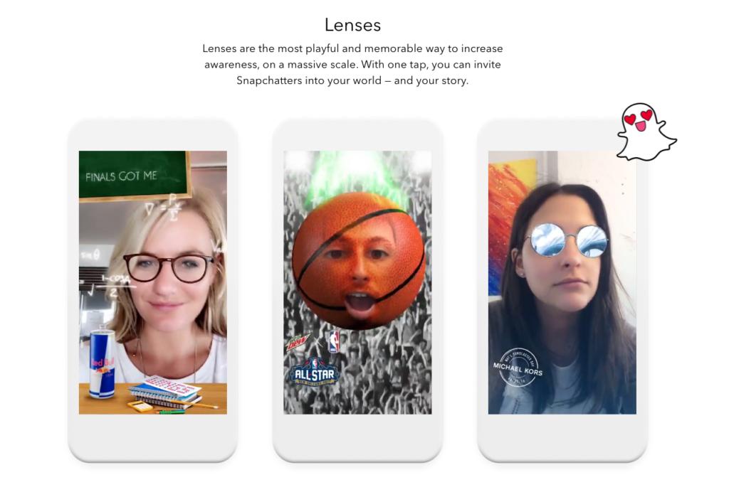 Snapchat AR Lenses