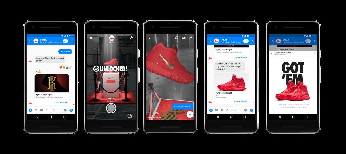 Nike AR advertising in Facebook's Messenger