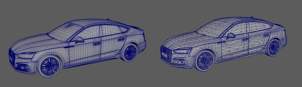 Audi 3D Models - High & Low Polygons