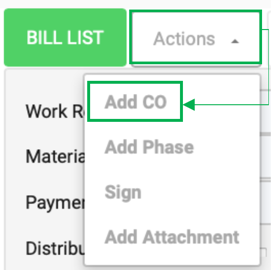 Actions Add CO