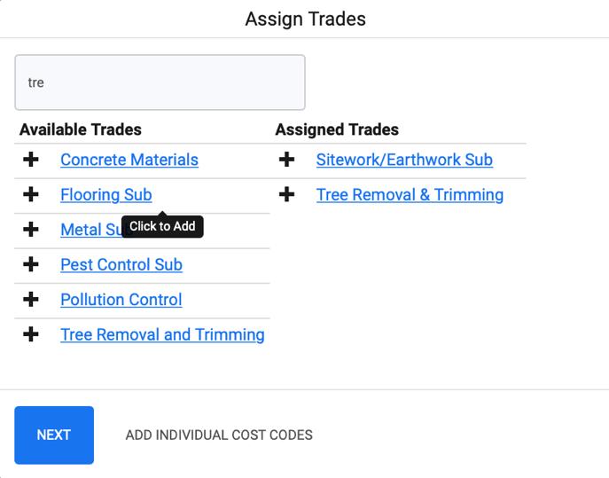 Assign Trade