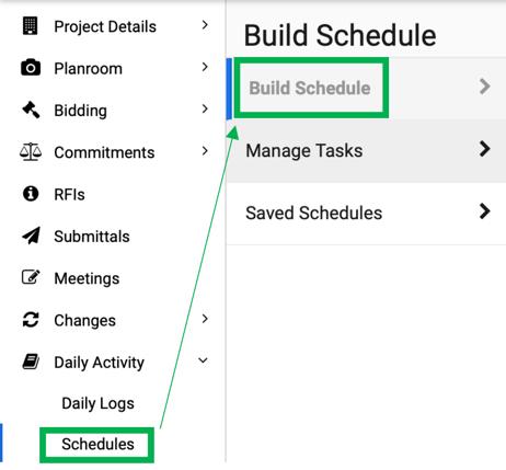 Build Schedule
