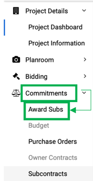 Commit>Award Subs