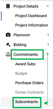Commit>Subcontracts