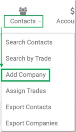 Contacts Add Company
