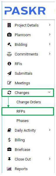Global Dashboard RFPs