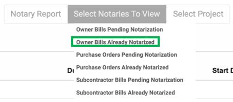 Owner BIlls already notarized
