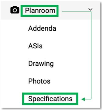 Plan Room _Specs