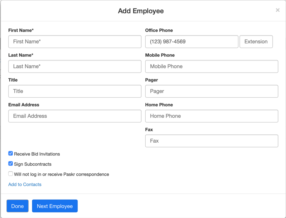 Add Employee 2-1